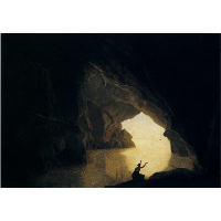 A Grotto in the Gulf of Salernum, with the figure of Julia, banished from Rome