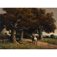 Landscape with Horse and Rider