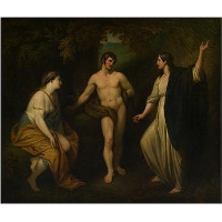 Choice of Hercules between Virtue and Pleasure