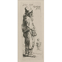 A Beggar and a Companion Piece, Turned to the Right