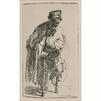 A Beggar with a Wooden Leg