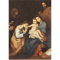 The Holy Family with St. Catherine