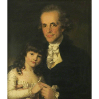 Colonel James Capper and His Daughter