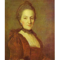 Portrait of an Unknown Woman in a Red Dress