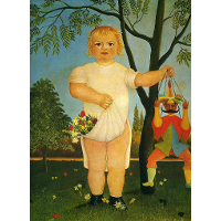 Child with a Puppet