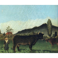 (Landscape with cow)