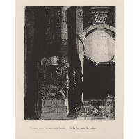 And on every side are columns of basalt, ... the light falls from the vaulted roof (plate 3)