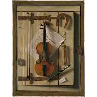 Still Life—Violin and Music