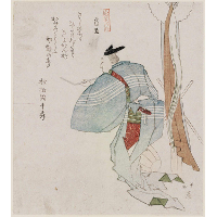 Carpenter (Banjo), from the series Ten Kinds of People (Jinbutsu jûban tsuzuki)