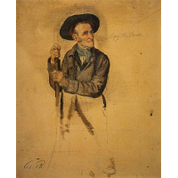 A Man with a Pike (Study for 'The Covenanters Preaching')