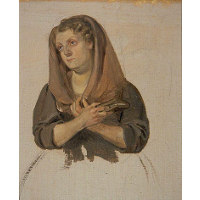 Woman Clasping the Bible