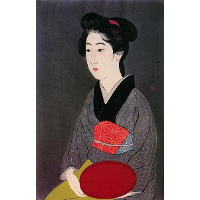 Woman Holding Tray