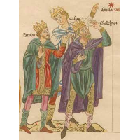 The three Magi (Balthasar, Caspar, Melchior)
