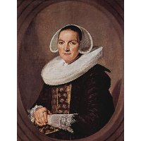 Portrait of a forty year old woman with folded hands