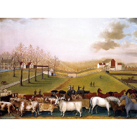 An Indian Summer View of the Farm & Stock of James C. Cornell