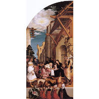Oberried Altarpiece, left interior wing - The Adoration of the Magi