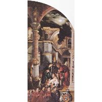 Oberried Altarpiece, right interior wing - The Birth of Christ