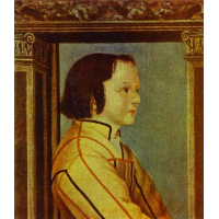 Portrait of a Boy with Chestnut Hair