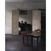 Interior with Ida Playing the Piano