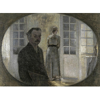Double portrait of the artist and his wife seen through a mirror
