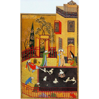 A miniature painting from the Iskandarnama