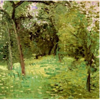 Flowering Meadow with Trees