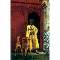 An Arab and His Dog