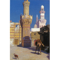 A Hot Day in Cairo (front of the Mosque)