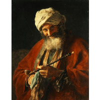 Oriental Man with a Pipe