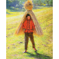 Boy Carrying a Sheaf