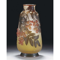 Mould-Blown Cameo Glass Vase