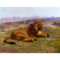 Couching Lion