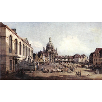New Market Square in Dresden from the Jüdenhof