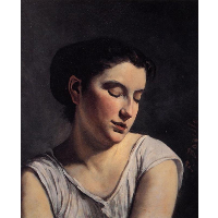 Young Woman with Lowered Eyes