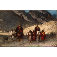 Arabian Sheikhs in the Mountains