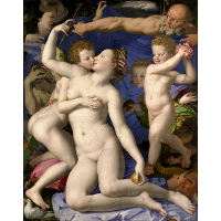 An Allegory with Venus and Cupid
