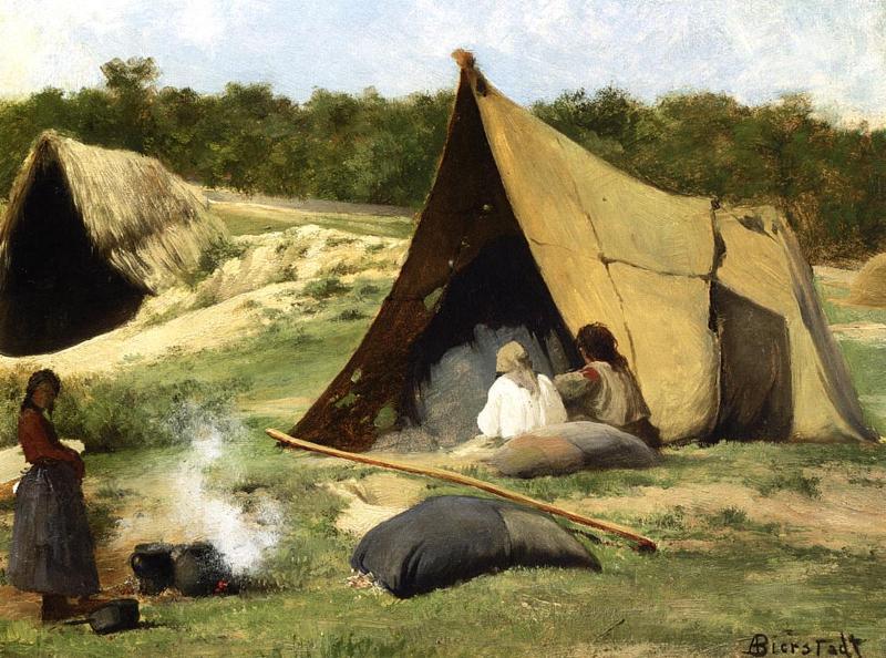 альберт бирштадт индейская рыбалка