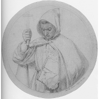 Study of a Monk, representing Catholic Faith