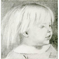Cathy Madox Brown at the age of three years