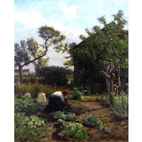 A Young Woman in the Artist's Garden, Courrières