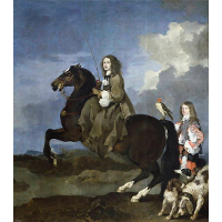 Equestrian portrait of Christina, Queen of Sweden