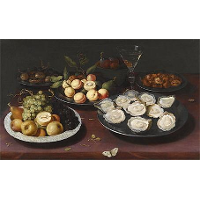 Still Life Of Fruit And A Plate Of Oysters