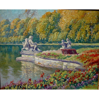 Lake and Gardens with Statuary Landscape
