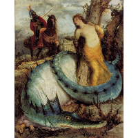Angelika, guarded by a dragon (Angelica and Ruggiero)