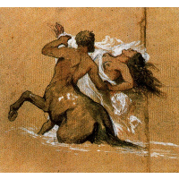 Centaur and nymph