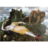 Diana sleeping with two fauns