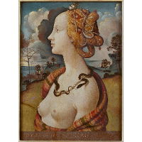 Portrait of Simonetta Vespucci as Cleopatra
