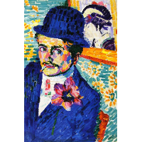 Man with a Tulip (also known as Portrait of Jean Metzinger)