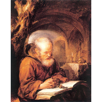 A Hermit Praying