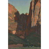 Notch in the Wall, Zion National Park, August 1933
